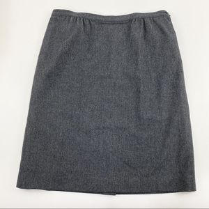Vtg Pendleton gray wool skirt 22W 2X 3X